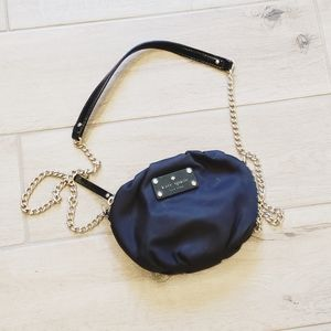 Cute Kate Spade Black Nylon Chain Crossbody Bag